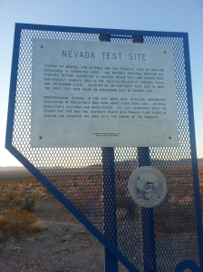 Site where the first nuclear test took place in January, 1951