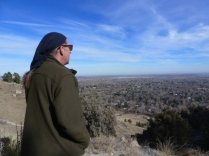 Thanksgiving Day Hike 2 - Dave looks at the view from the top
