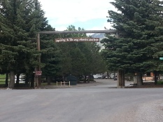 Our campground entrance in Thayne, Wyoming