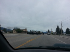 Wyoming Cattle Drive 2014 style, down the middle of the main highway in Eden, Wyoming, population around 280