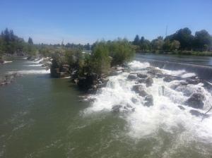 The falls in downtown Idaho Falls, ID