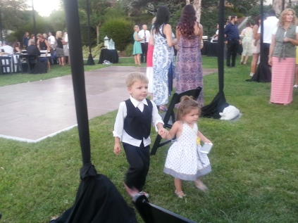 Dave's son's kids - Adam & Harley - enjoyed all the dancing at the wedding