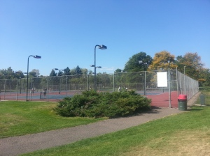 Tennis in Colorado in Autumn.....doesn't get much better than this =)