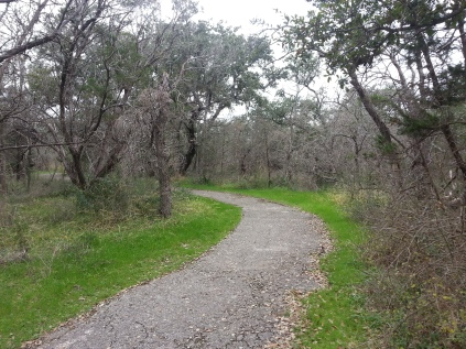 Our bike path at McKinney Falls