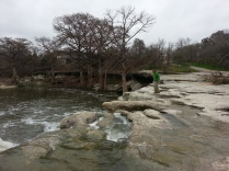Dave enjoying the beauty at McKinney Falls