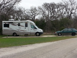 Our campsite at McKinney Falls