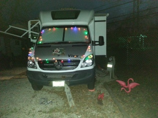Christmas Lights at out new Austin campground