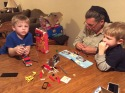 Grandpa, Adam and friend building Legos