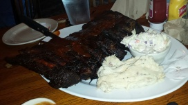 County Line ribs - now that's the way to celebrate
