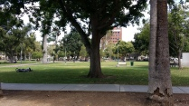 A city park in downtown Santa Clara